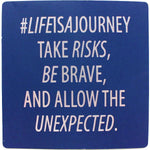 #lifeisajourney Inspirational Fridge Magnet