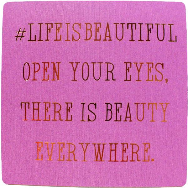#lifeisbeautiful Inspirational Fridge Magnet
