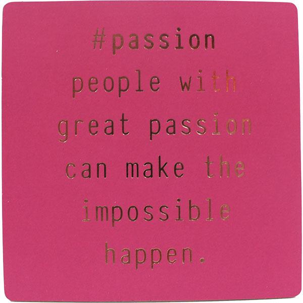 #passion Inspirational Fridge Magnet