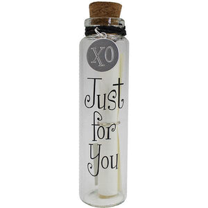 Personalized Message in A Bottle - Just For You gift Aroma Addiction