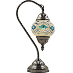 Turkish Mosaic Lamp - Swan Neck - Reflecting Eye