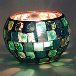 Paua Mosaic Tea Light Holder Pack  Aroma Addiction