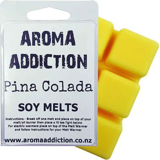 Pina Colada Scented Soy Melt Pack  Aroma Addiction
