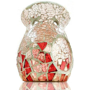 Pink Crackle Base Mosaic Scented Melt Burner  Aroma Addiction