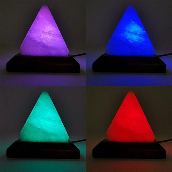 Re-Packaged Pyramid LED Color Changing Himalayan Salt Lamp