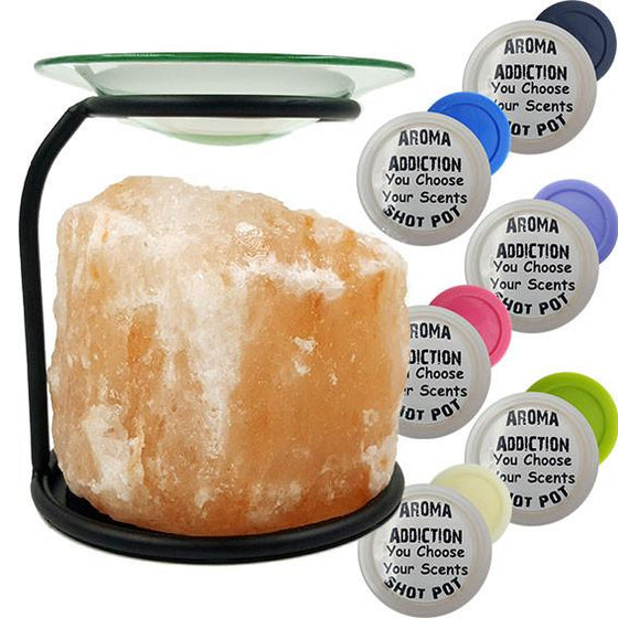 Himalayan Salt Burner Shot Pot Combo