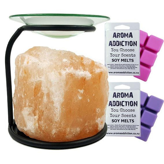 Himalayan Salt Lamp Melt Burner Melt Pack Combo Himalayan Salt Crystal Aroma Addiction
