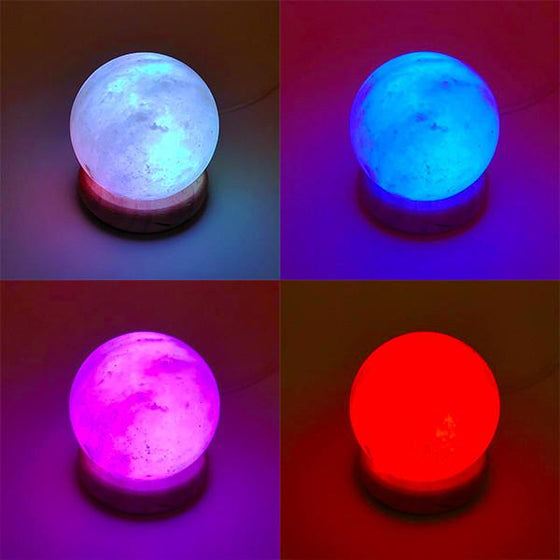 Himalayan Salt Orb USB Color Changing Lamp