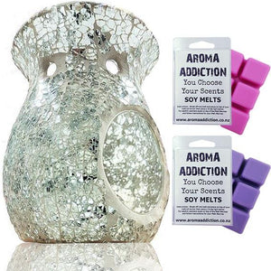 Crystal Clear Mosaic Melt Burner Melt Pack Combo melt burners Aroma Addiction