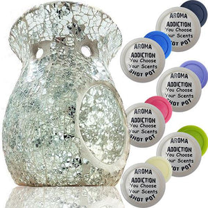 Crystal Clear Mosaic Melt Burner Shot Pot Combo melt burners Aroma Addiction