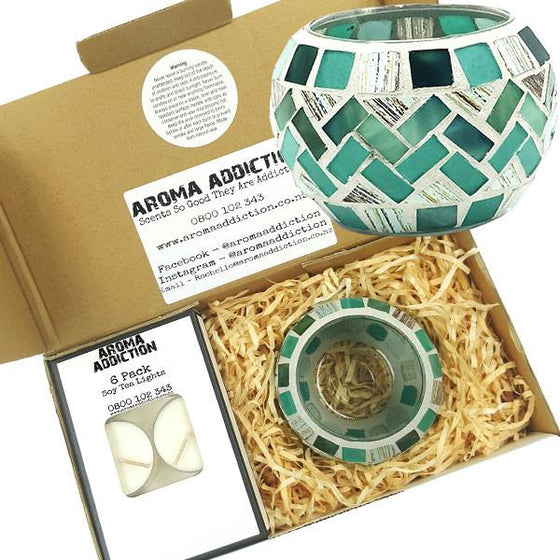 Wave Mosaic Tea Light Holder Pack  Aroma Addiction