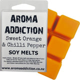 Sweet Orange & Chilli Pepper Scented Soy Melt Pack Scented melts Aroma Addiction
