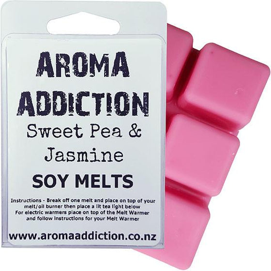 Sweet Pea and Jasmine Scented Soy Melt Pack Scented melts Aroma Addiction
