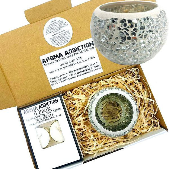 Silver Mosaic Tea Light Holder Pack