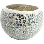 Silver Mosaic Tea Light Holder Pack  Aroma Addiction