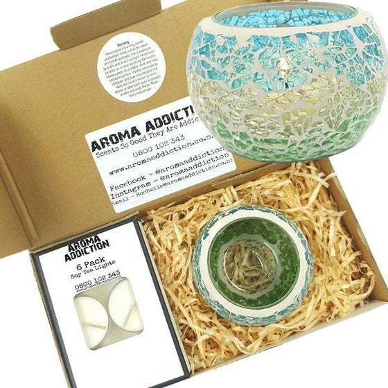Ocean Mosaic Tea Light Holder Pack  Aroma Addiction