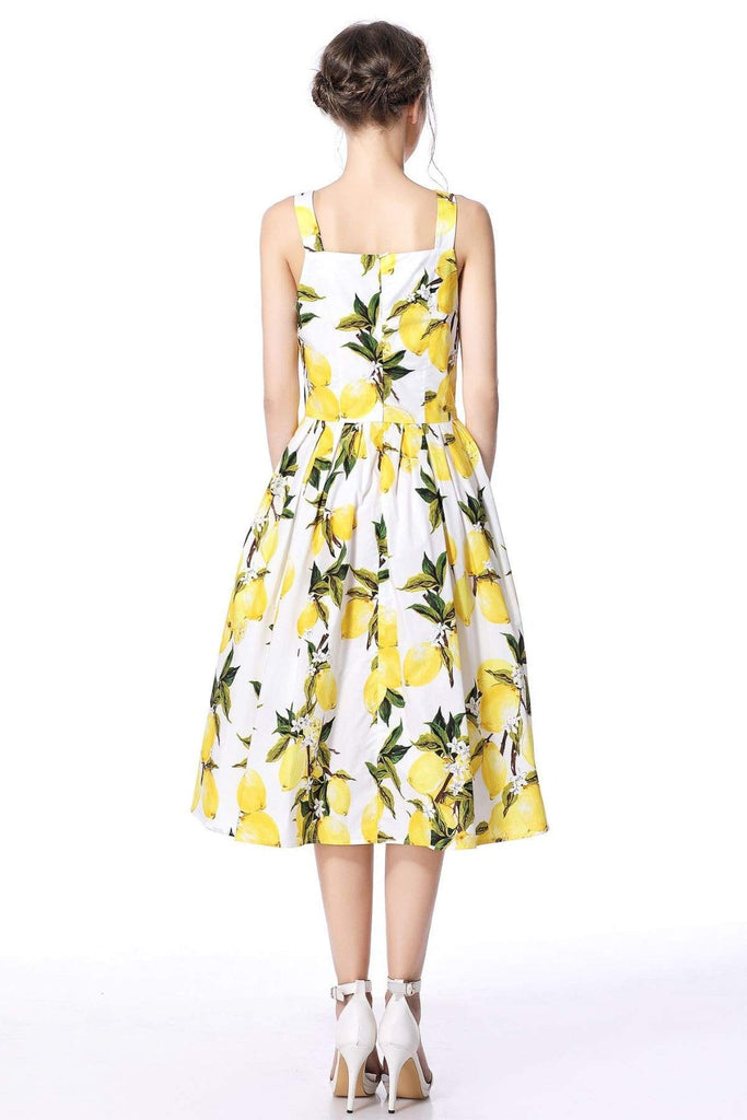 Lemon Strap Dress Rockabilly Swing Dress Vintage Dress Australia 9352589001963