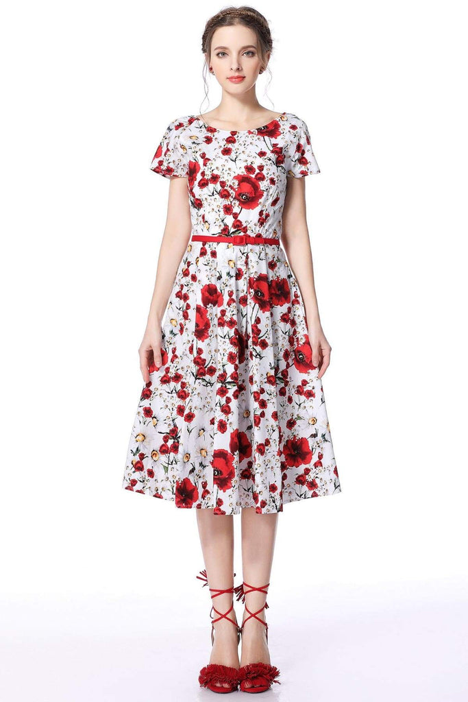 Poppy & Daisy Scoop Neck Vintage Dress