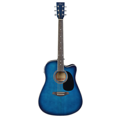 Artist LSPCEQTBB Beginner Electro-Acoustic Guitar Pack - Blue