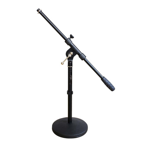 Artist MS023 Small Black Boom Mic Stand with Round Base