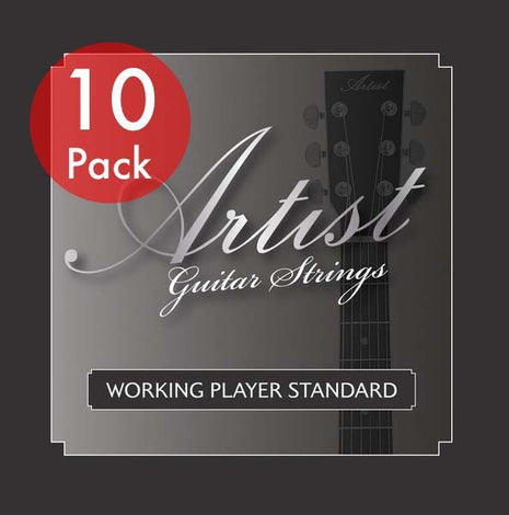Artist ACST104712 10 sets of Acoustic Guitar Steel 12 Strings 10-47