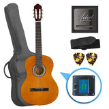 Artist CL44AML Left Handed Full Size Classical Nylon String Guitar Pack