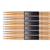 Artist DSM5AN Maple Drum Sticks With Nylon Tips - 6 Pairs