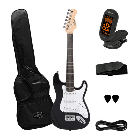 Artist ST34 Black 3/4 Size Electric Guitar Plus Accessories
