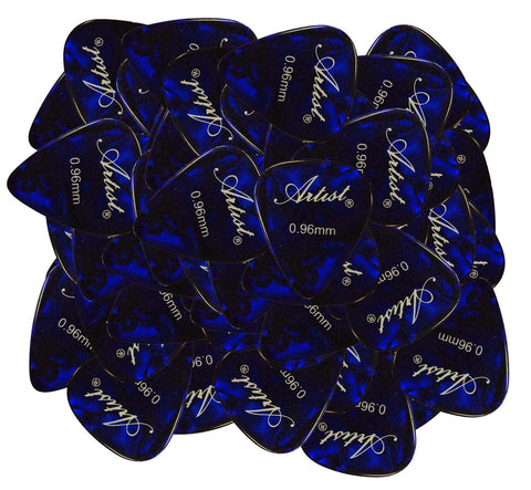 Artist AP12A0.96 Blue Celluloid Guitar Picks - 0.96mm/ 72 Pack