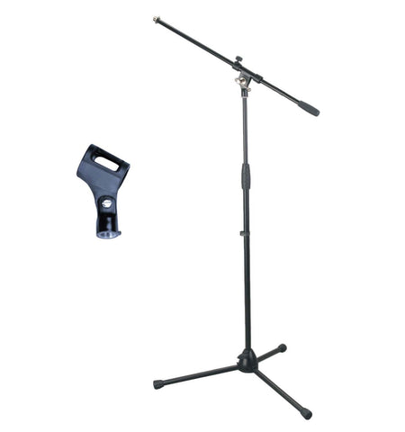 Artist MS012 Deluxe Black Boom Mic Stand with Rubber Mic Clip