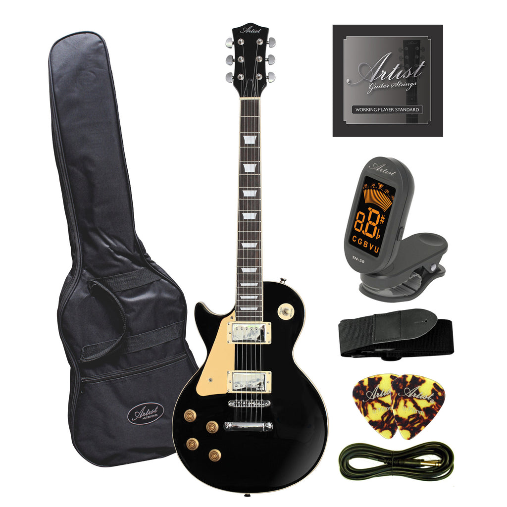 Artist LP60BKL Left Handed Electric Guitar + Accessories - Black
