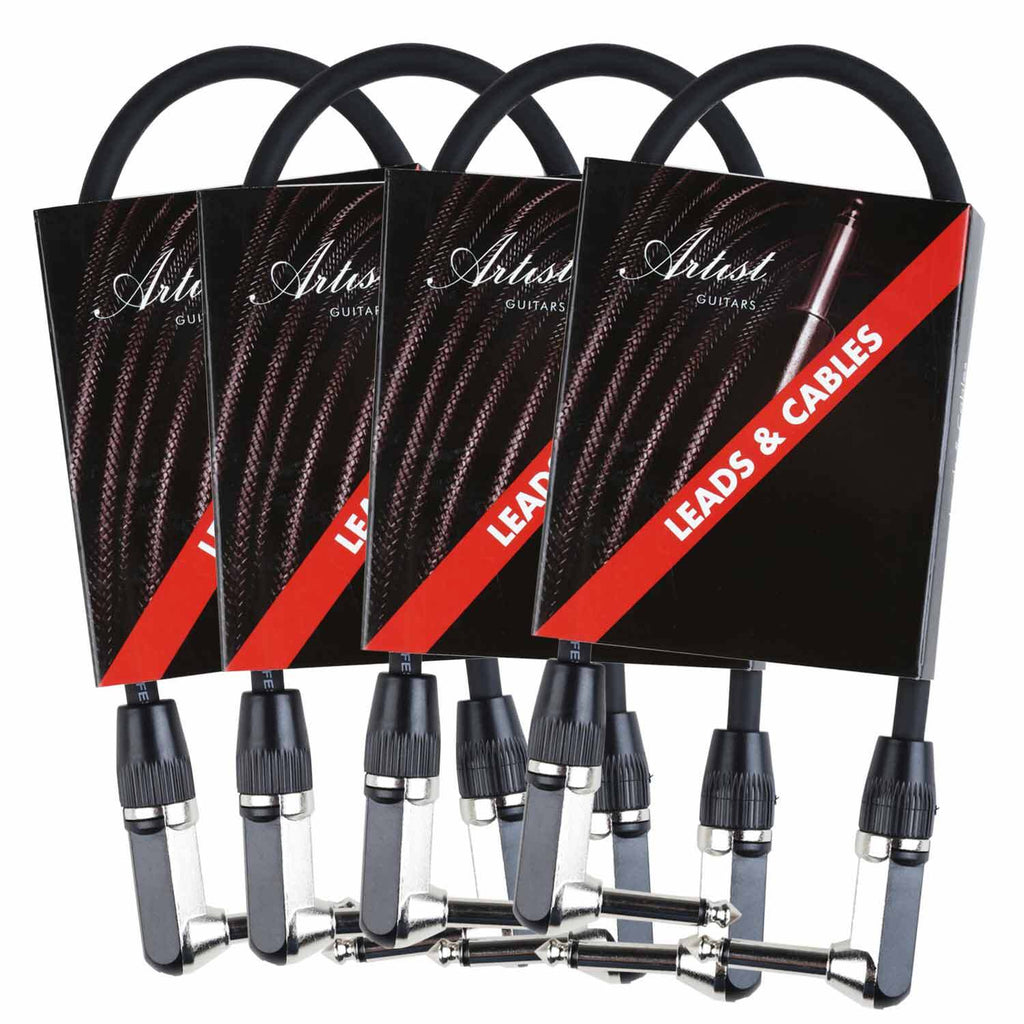Artist GX1RR Guitar Patch Cable/Lead - Right Angle - 4 Pack