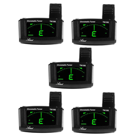 Artist TN100 Chromatic Clip on Guitar Tuner - 5 Pack
