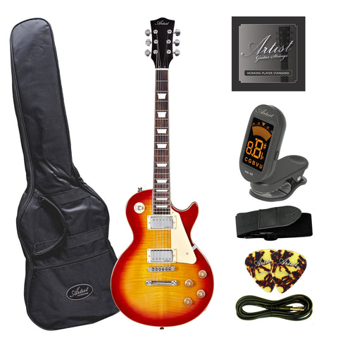 Artist LP60 Cherry Sunburst Electric Guitar with Accessories