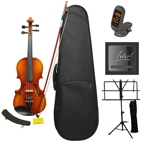 Artist SVN34 Solid Wood Violin Ultimate Package 3/4 size
