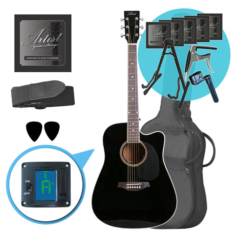 Artist LSPCBK Ultimate Beginner Acoustic Guitar Pack