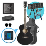 Artist LSPS Black Ultimate Beginner Acoustic Guitar Pack