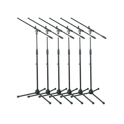 Artist MS012 x6 Deluxe Black Boom Mic Stand ONLY - 6 Pack