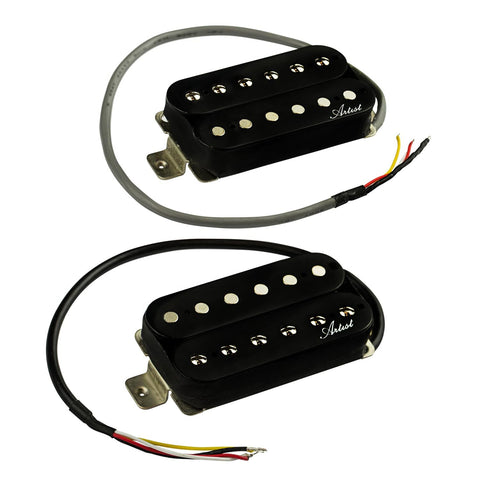 Artist BullBucker Electric Guitar Humbucker Pickup Set - Black
