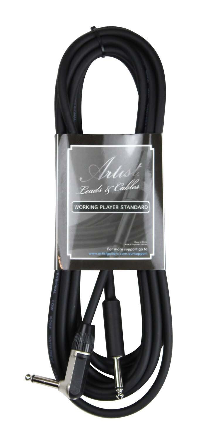 Artist GX15R 15ft (4.5m) Deluxe Guitar Cable/Lead - 1 Right Angle
