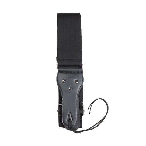 Artist S1008 Cotton guitar strap with vinyl ends - Black