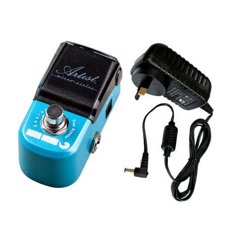 Artist MP105 Blue Wave Chorus Micro Guitar Effects Pedal + Power Supply