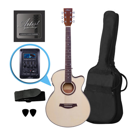 Artist LSPSCEQ Natural Beginner Small Body Electro-Acoustic Guitar