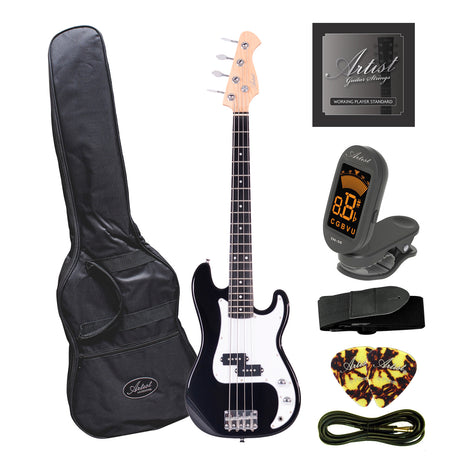 Artist MiniP 3/4 Size PB Style Electric Bass Guitar + Accessories