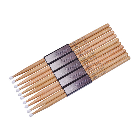 Artist DSO5BN Oak 5B Drumsticks with Nylon Tips - 6 Pairs