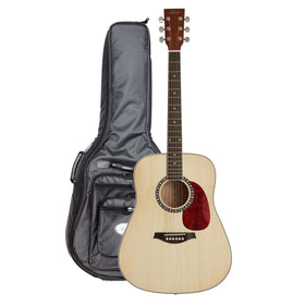 Artist DS120 Acoustic Guitar, Solid Top Dreadnought + Bag