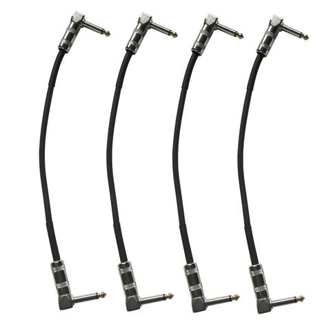 Artist GPR1 Guitar Patch Cable/Lead 25cm Right Angle Jack-Jack -5 Pack