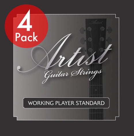 Artist ACST1152 Acoustic Guitar Steel Strings Custom Light 11-52 - 4Pk