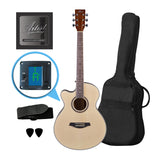 Artist LSPSNTL Beginner Left Handed Small Body Acoustic Guitar Pack