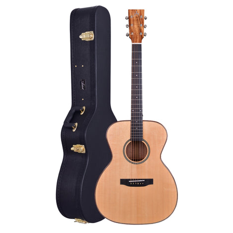 Artist Delta1EQ Solid Wood OM Style Acoustic Guitar with EQ + Case